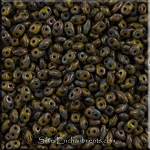 Super Duo Seed Beads, OLIVE PICASSO SuperDuo Beads