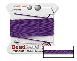 AMETHYST Griffin Silk Beading Cord with Needle, Size 4