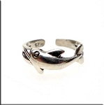 SOLOUT - Sterling Silver Dolphin Toe Ring