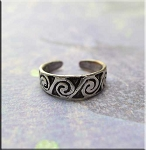 Sterling Silver Spiral Toe Ring