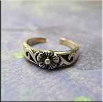 SOLD - Sterling Silver Flower Toe Ring
