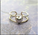 SOLD - Sterling Silver Simple Heart Toe Ring