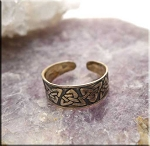 SOLD - Sterling Silver Triquetra Toe Ring