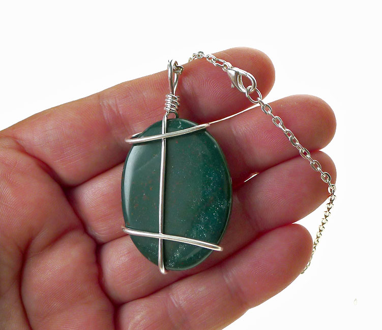Sold bloodstone pendant necklace bloodstone jasper jewelry bloodstone necklace mozeypictures Image collections