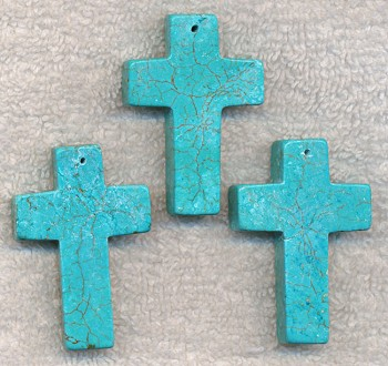 Cross pendant 40x35mm turquoise cross pendant 40x35mm aloadofball