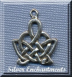 Sterling Silver Celtic Crown Pendant