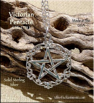 Sterling Silver Victorian Pentacle Pendant