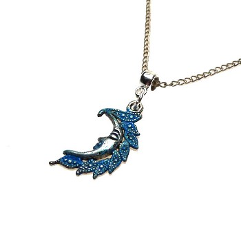 Blue Moon Necklace Pendant - Everyday Spiritual Jewelry