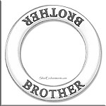 Sterling Silver BROTHER Affirmation Ring Necklace Charm