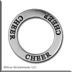 Sterling Silver CHEER Affirmation Charm
