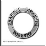 Sterling Silver FOREVER Affirmation Ring Necklace Charm - CLEARANCE