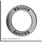 Sterling Silver SOCCER Affirmation Ring Necklace Charm - CLOSEOUT