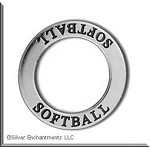 Sterling Silver SOFTBALL Affirmation Charm