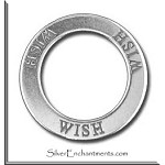 Sterling Silver WISH Affirmation Ring Necklace Charm - CLEARANCE