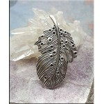 Fancy Feather Necklace, Large Bailed Angel Wing Pendant Necklace
