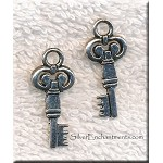 Double Sided Key Pendant, Key Jewelry