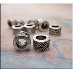 Granulated Diamond Large Hole Spacer Bead Big Hole Beads (1)
