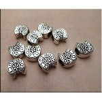 Wholesale Horseshoe Beads, Antiqued Silver Good Luck Horse Shoe Large Hole Beads Bulk (10)
