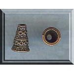 Fancy Jewelry Cones with 4.5mm Opening, Antique Copper (1)