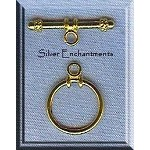 Bright Gold Plated Round Simple Elegance Toggle Clasp