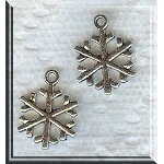 Snowflake Charm, Silver Pewter
