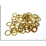 8mm Gold Plated Closed Jump Rings 20-gauge (50)