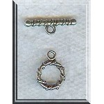 Wholesale Wrapped Accents Round Toggle Clasps 12mm Jewelry Findings Bulk (10)