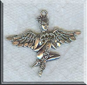 Exotic Fairy Pendants Antique Silver Bulk (6)
