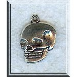 Skull Charm, Silver Pewter