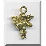 Angel Charm Antique Gold 18x12mm