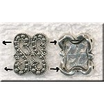 2-Strand Jewelry Separator Findings Antique Silver Marcasite Style 12mm Bulk (10)