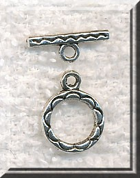 Round Southwestern Daisy Jewelry Toggle Clasp 12mm