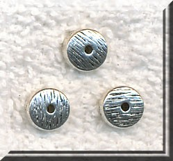 8mm Rondelle Spacer Beads with Textured Pattern, Jewelry Spacers, Bulk (20)