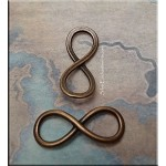 Copper Infinity Charm Connector, Eternity Jewelry Finding, 25x10mm (1)