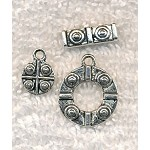 3-piece Fancy Toggle Clasps and Charms Sets Bulk (10)