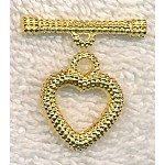 Dotted Heart Toggle Clasp