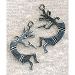 Double Sided Kokopelli Pendant