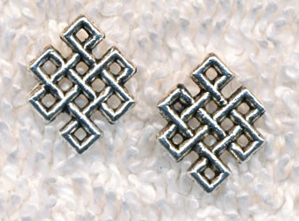 Celtic Lace Jewelry Finding Link Connector, 12x10mm