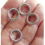 Jewelry Rings, 13mm Closed Twist Jump Rings (20)