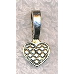 Heart Glue-on Bail, 19x9.5mm