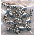 3D Lucky Money Bag Charm, Antique Silver (1)