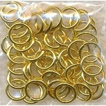 8mm Gold Plated Jump Rings, 18-gauge Bulk (50)