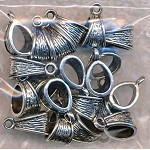 Textured Decorative Jewelry Bails, Bulk (20)