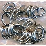 Closed Oval Jump Rings, 10x7mm (30)