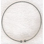 Silver Plated Large Hole Bead Necklace Torc