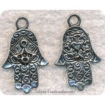 Large Fancy Hamsa Pendant | Hand of Miriam Pendant