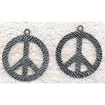 Large Peace Necklace - Everyday Silver Peace Jewelry
