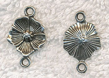 Flower Jewelry Links, Flower Connectors 24x15mm (10)