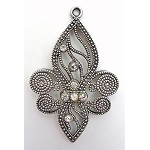 Fleur d' Lis Pendant with Crystals