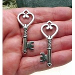 Heart Key Pendants, 3-Dimensional Key Pendants (1)